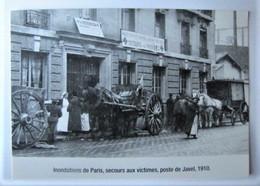 FRANCE - PARIS - Innondations De 1910 - Secours Aux Victimes, Poste De Javel - Copy - Überschwemmung 1910