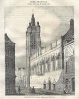 GRAVURE De 1836.. Hôtel De Ville De DOUAI ( Nord 59) - Prints & Engravings