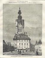 GRAVURE De 1836.. La TOUR Du BEFFROI à BETHUNE ( Pas De Calais 62) - Prints & Engravings