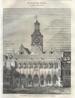 GRAVURE De 1836.. HOTEL De VILLE De SAINT QUENTIN ( Aisne 02) - Prints & Engravings