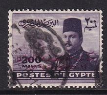 Egypt 1952, Overprint ,minr 371 Vfu - Gebraucht