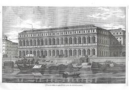 GRAVURE De 1836.. PARIS. Vue De L'Edifice Du Quai D'Orsay, Prise Du Côté De La Rivière - Prints & Engravings