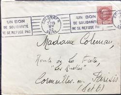FRANCE 1942 UN BON DE SOLIDARITE NE SE REFUSE PAS, COLOMBF.S SEINE - Covers & Documents