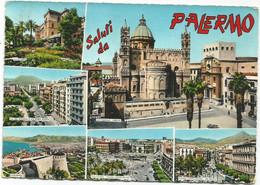 AA2951 Saluti Da Palermo - Panorama Vedute Multipla / Viaggiata 1964 - Palermo