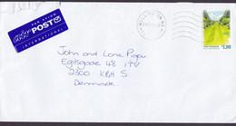 New Zealand International PAR AVION AIRpost Label WELLINGTON Fastpost 1997 Cover Brief Denmark $1.80 Marine Parade Garde - Covers & Documents