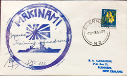JAPAN 1966 MAKINAMI TRAINING SQUADRON SHIP DD-112 SIGNITURE COVER FROM NEW ZELAND BLENHEIM - Unclassified