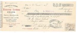 Traite 1918- MANUFACTURE DAUPHINOISE à NYONS (Drome) Papiers, Transformation, Pour Pliage Et Chapellerie-Banque DELHOMME - Printing & Stationeries
