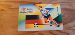 Prepaid Phonecard USA,Sprint - Football World Cup, Germany Related - Sprint