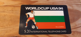 Prepaid Phonecard USA, Global Telecom Network - Football World Cup, Bulgaria Related - Other