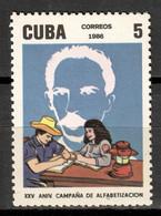 Cuba 1986 / Literacy Campaign MNH Campaña De Alfabetización José Martí / Ij20  30-23 - Unused Stamps