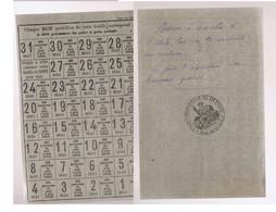 BETHUNE1940-45 Carte Ravitaillement   Pain - Wetten & Decreten