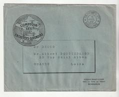 """Lettre Illustrée """"Comptoir Des Entrepôts Girondins"""" Et Cachet """"Imprimés PP - Bordeaux, 1929"""" - Brieven En Documenten"""