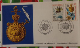 First Day Cover FDC Europa France Christophe Colomb 1992 - Briefe U. Dokumente