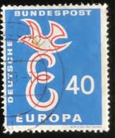 Deutsche Bundespost - C2/41 - (°)used - 1958 - Michel 296 - Europa - Letter E En Duif - Gebraucht