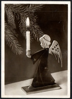 B5022 - Glückwunschkarte Weihnachten - Engel Angel Kerze Tannenzweig - EAS Schwertfeger - Unclassified