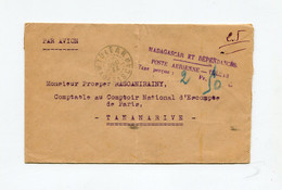 !!! MADAGASCAR, LETTRE PAR AVION DE TULEAR DU 19/12/1944 AFFRANCHIE EN NUMERAIRE A 2,50 F - Covers & Documents