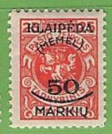MiNr.127 X  Deutschland Deutsche Abstimmungsgebiete Memelgebiet - Klaipeda