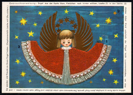 F4410 - TOP Glückwunschbild Weihnachten - Engel Angel - Stanzkarte Goldruck - Unclassified