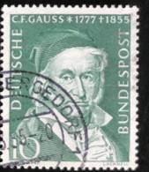 Deutsche Bundespost - C2/41 - (°)used - 1955 - Michel 204 - Carl Friedrich Gauss - Gebraucht