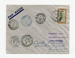 !!! MADAGASCAR, VOL MILITAIRE TANANARIVE - TANANARIVE PAR L'ADJ LUCAS, LETTRE DU 7/10/1936 CACHETS DES ESCALES - Covers & Documents