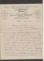 1946 Militaria / Entête Maison Cayet-Chauvel Chemiserie à Lille Pour Le Maire De Falaise,Service Réquisitions - Historical Documents