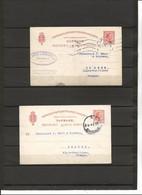 2 ENTIERS DESTINATION POUR  LA FRANCE AVEC CACHET DE CENSURE ALLEMANDE 1919 - Postal Stationery