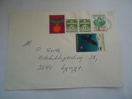 DENMARK COVER 1977  ALLEROD  WITH JUL  1977 VIGNETTES BIRD BIRDS - Unclassified