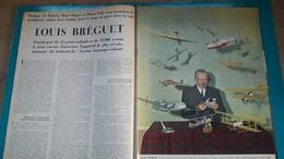 Aviation, Louis Bréguet ,extrait De Page De Paris Match - Historical Documents