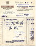 2 Factures 1939-48 / 08 VRIGNE AUX BOIS / BERNARD HUET / Usine De THUMECOURT Marque MH - 1900 – 1949
