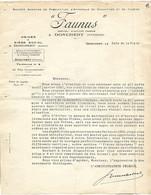 Courrier 1930 / 08 DONCHERY / FAUNUS Fabrication Appareils De Chauffage - 1900 – 1949