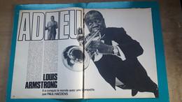 Louis Armstrong Adieu ,extrait De Page De Paris Match - Historical Documents