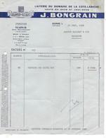 5 Factures 1952-58 / 52 ILLOUD Par Bourmont / Fromagerie BONGRAIN - 1950 - ...