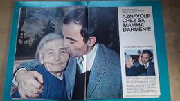 Aznavour Chez Sa Maman D'Arménie ,extrait De Page De Paris Match - Historical Documents