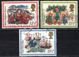 "GRAN BRETAGNA - 1982 - NATALE - CHRISTMAS - I ""CAROLS"" - CANTI NATALIZI - I PASTORI VEGLIANO - USATI - Used Stamps"