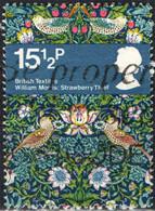 GRAN BRETAGNA - 1982 - WILLIAM MORRIS - TESSUTO INGLESE - UCCELLI - FIORI - USATO - Used Stamps