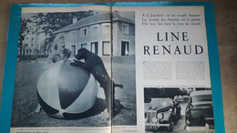 Line Renaud ,extrait De Page De Paris Match - Historical Documents