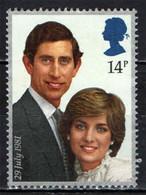GRAN BRETAGNA - 1981 - ROYAL WEDDING - NOZZE DEL PRINCIPE CARLO CON LADY DIANA SPENCER - USATO - Used Stamps