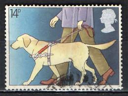 GRAN BRETAGNA - 1981 - CIECO CON CANE GUIDA - ANNO DEL MINORATO - USATO - Used Stamps