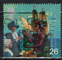 GRAN BRETAGNA - 1999 - MILLENNIUM - EMIGRATION - PILGRIM FATHERS - VELIERO - INDIANO D'AMERICA - USATO - Used Stamps