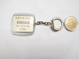 Beau Porte Clés , Station Shell Gebouen à Lyon , Rhône , Blason - Key-rings