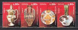 Espagne 2011 : Timbres Yvert & Tellier N° ???? Se Tenant En Bande De 4 ( 4 Timbres Oblitérés ). - 2011-... Usati