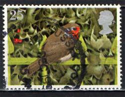 GRAN BRETAGNA - 1995 - NATALE - IL PETTIROSSO - UCCELLO - SUL CANCELLO - USWATO - Used Stamps