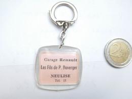 Beau Porte Clés , Garage Auto Renault , Les Fils De P. Duverger à Neulise , Loire - Key-rings