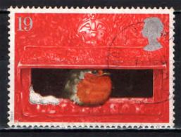 GRAN BRETAGNA - 1995 - NATALE - IL PETTIROSSO - UCCELLO - NELLA BUCA PER LETTERE - USATO - Used Stamps