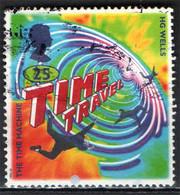 GRAN BRETAGNA - 1995 - H. G. WELLS: LA MACCHINA DEL TEMPO - FANTASCIENZA - THE TIME MACHINE - USATO - Used Stamps