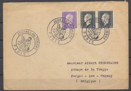 Paris 29 Juin 1946 Journée Du Timbre Lettre Ayant Voyagé 3 Timbres TB - Covers & Documents