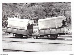 CPM 48 FLORAC CFD Train Remorques D'Autorail à 1 Essieu En 1953 VOIR DOS - Florac