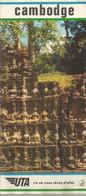 GU / Advertising Tourism Guide  TOURISME  / Guide PLAN Dépliant CAMBODGE   Cambodia UTA - Tourism Brochures