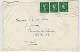 LETTERA  DALL'  INGHILTERRA   PER  PERAROLO  DI  CADORE  (BL)   1956 - Stamped Stationery, Airletters & Aerogrammes