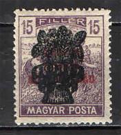 UNGHERIA - 1919 - COLTIVATORI  CON SOVRASTAMPA - MH - Ungebraucht